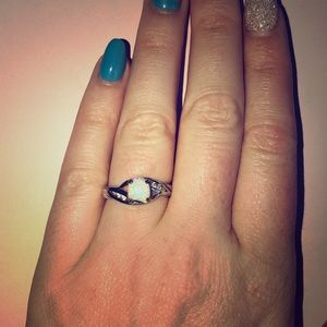 Avon opal and CZ ring size 7